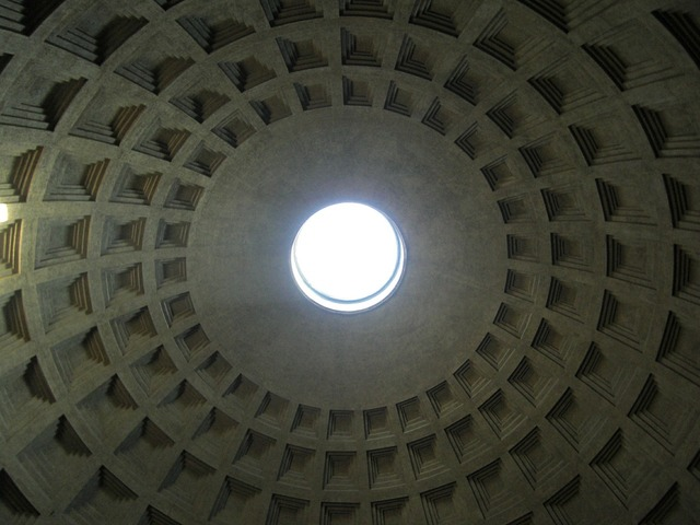 Pantheon domed roof dome, religion.