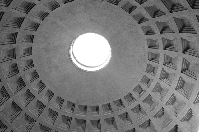 Pantheon roof roman, architecture buildings.