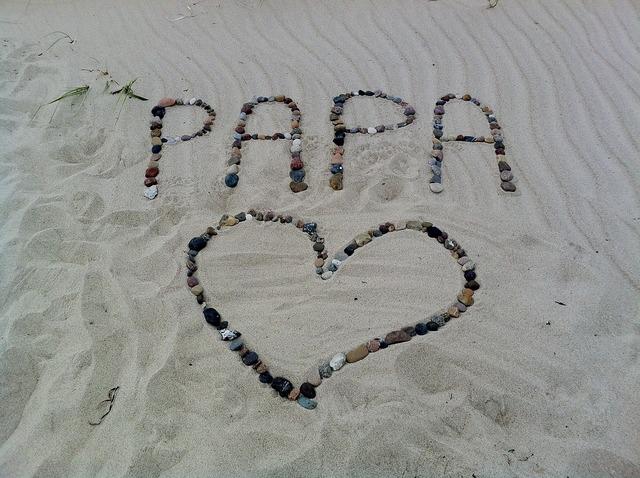 Papa font heart, travel vacation.