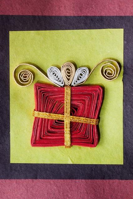 Paper art gift loop.