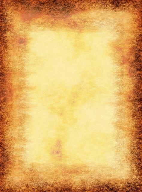 Paper parchment frame, backgrounds textures.
