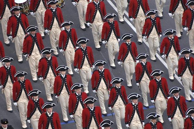 Parade marchers fife.