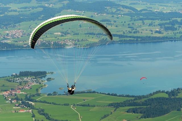 Paraglider paragliding fly.