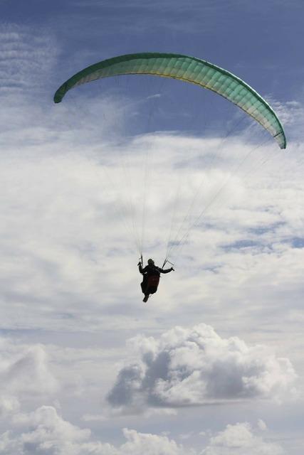 Paraglider paragliding gleischirmflieger.
