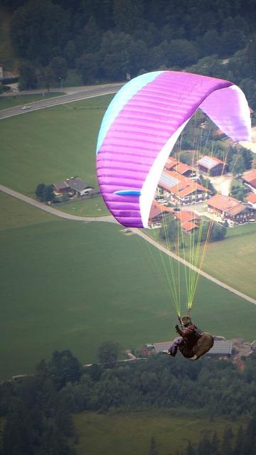 Paraglider paragliding glide, sports.