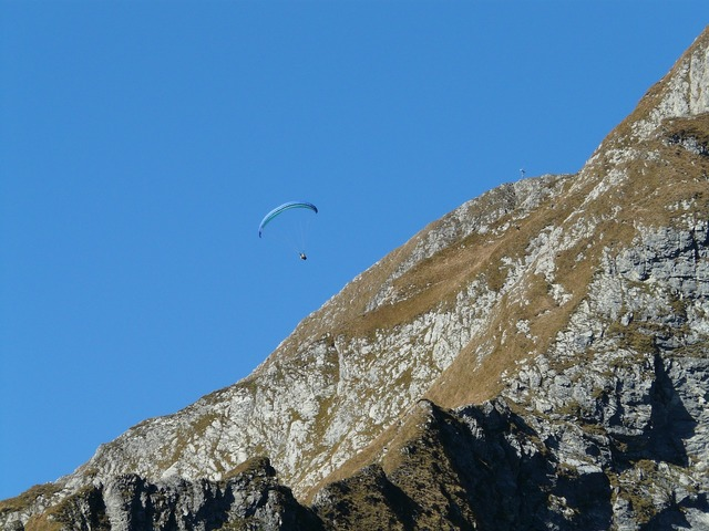 Paraglider paragliding höfats, sports.