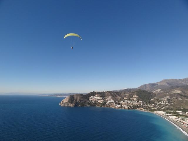 Paragliding fly summer.