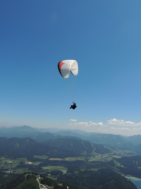Paragliding mountains fly, sports.