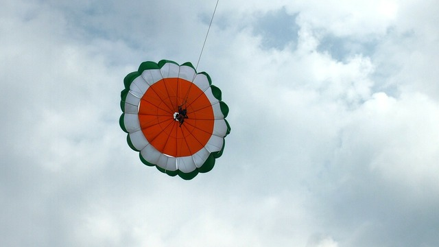 Paragliding recreation fun, travel vacation.