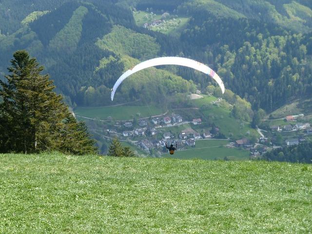 Paragliding slope glider, sports.