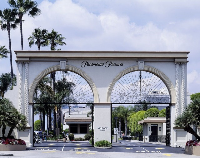 Paramount studios entrance gate.