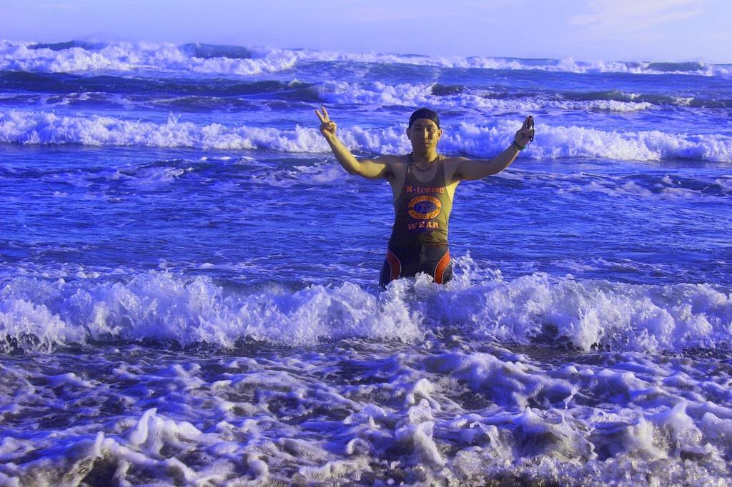 Parangtritis indonesia sea, people.