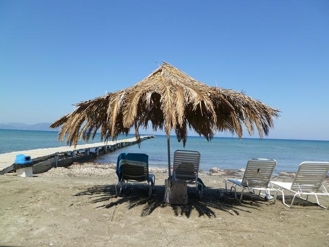 Parasol beach chair beach, travel vacation.