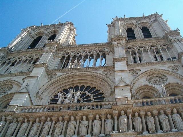 Paris building cathedral, architecture buildings.