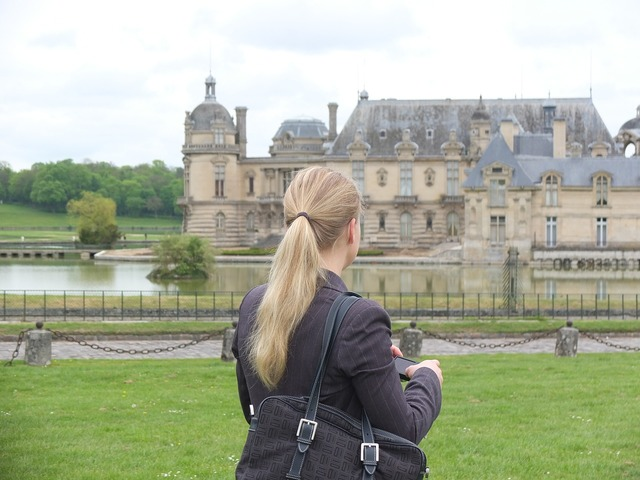 Paris chantilly castle, beauty fashion.