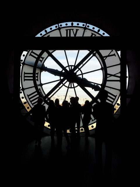 Paris clock time, people.