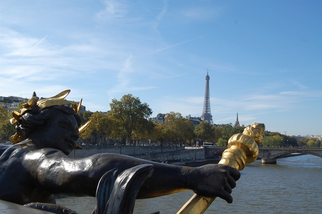 Paris eiffel tower alexander bridge.