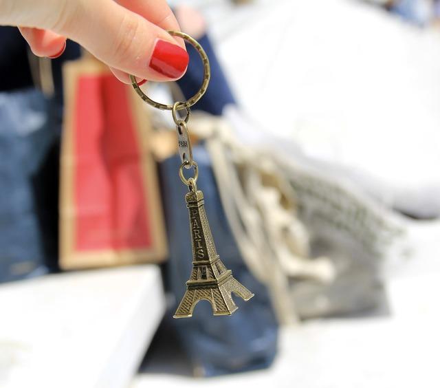 Paris eiffel tower shopping.
