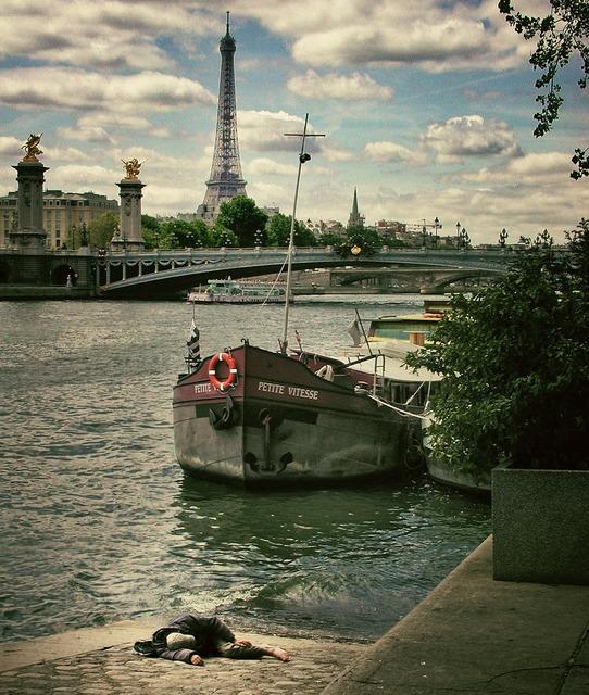 Paris france eiffel tower, transportation traffic.