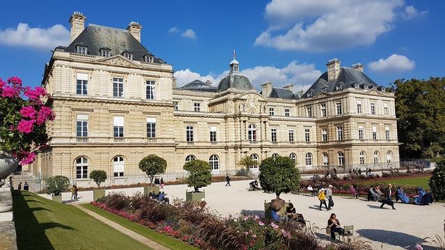 Paris france jardin du luxembourg, places monuments.