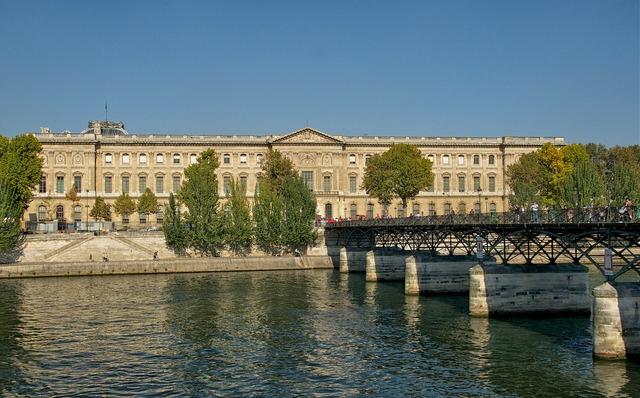 Paris france louvre palace, architecture buildings.