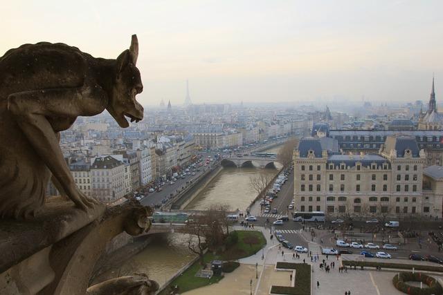 Paris france notre, places monuments.