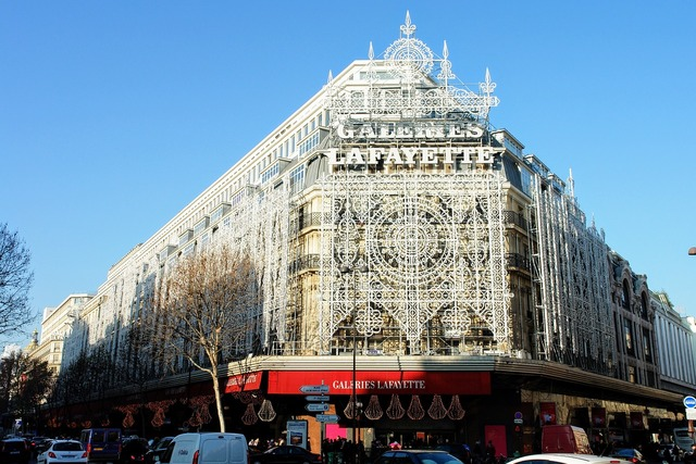 Paris la fayette department store.