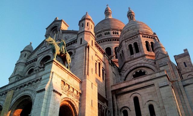 Paris montmartre france, architecture buildings.