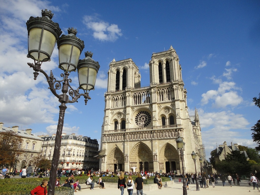 Paris notre-dame cathedral, architecture buildings.
