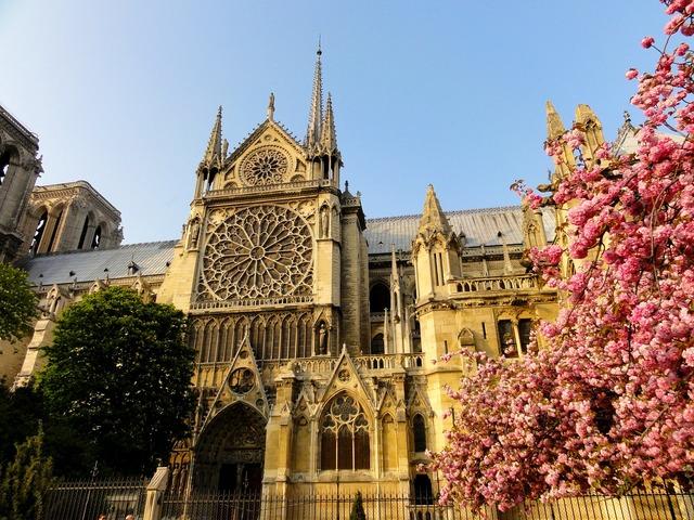 Paris notre dame de paris house of worship, architecture buildings.