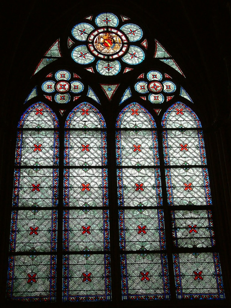 Paris notre dame stained glass window, religion.