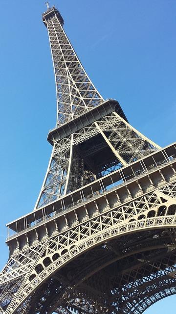 Paris tower landmark, places monuments.