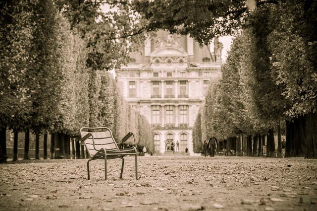 Paris tuileries park.