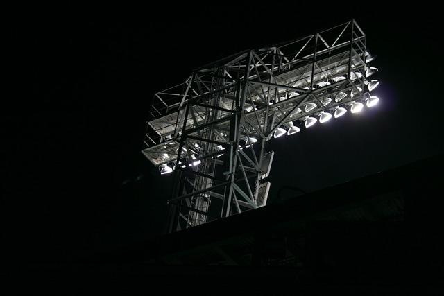 Park lights baseball, sports.