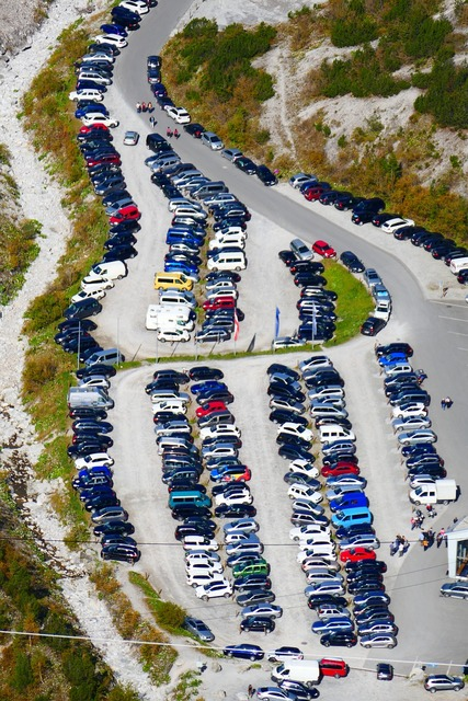 Park parking crowded.