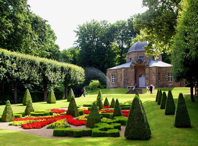 Park pavilion garden.