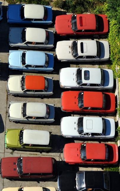 Parking park auto.