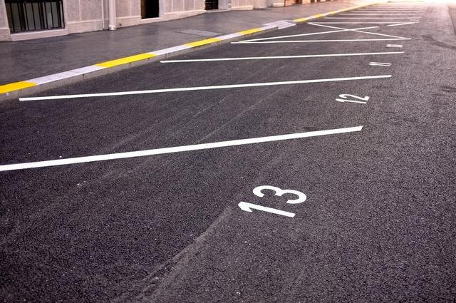 Parking parking line the markup, transportation traffic.