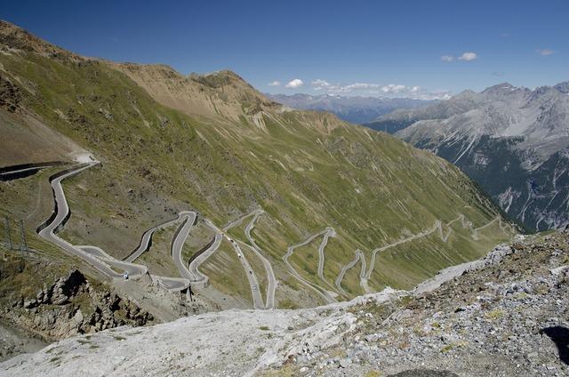 Passo stelvio mountains pass.