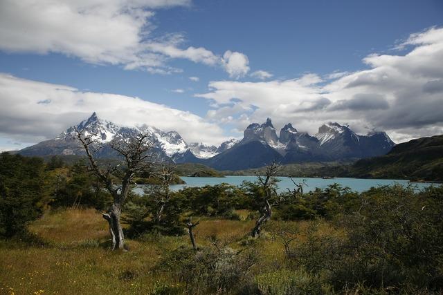 Patagonia torres del paine mountains.