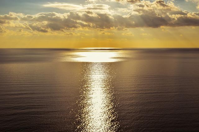Path of light sun sea, nature landscapes.