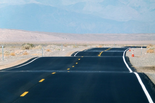 Paved road death valley california, nature landscapes.