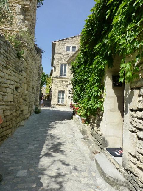 Paved street south france.