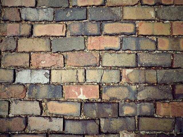 Paver path bricks, transportation traffic.