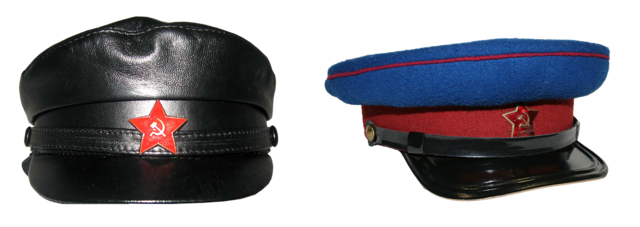 Peaked cap the red army chekist.