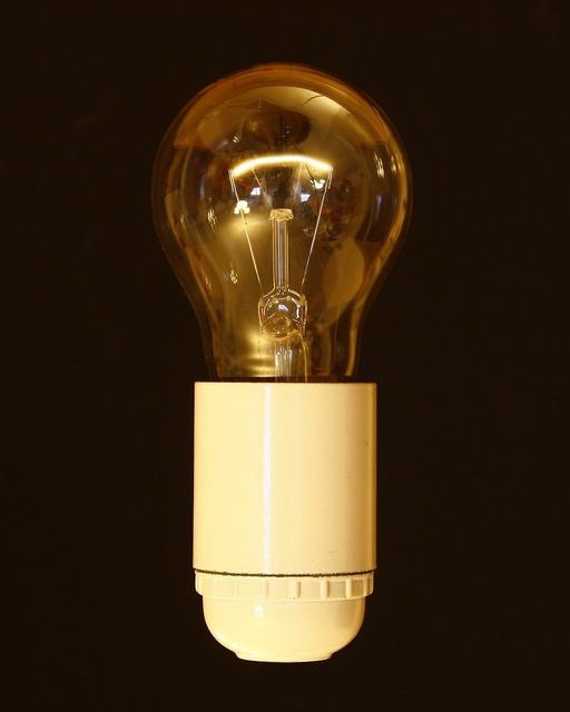 Pear light bulb version, science technology.