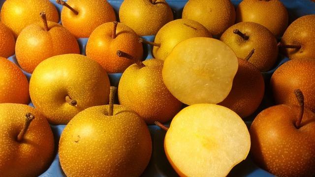 Pears fresh fruit, food drink.