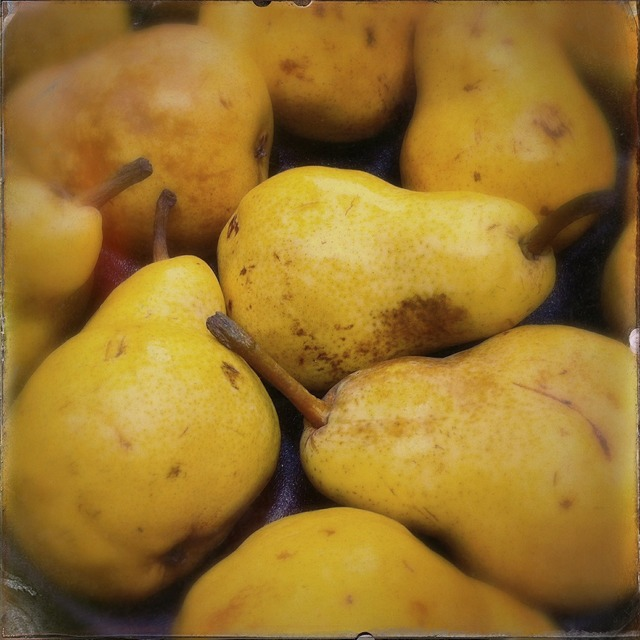 Pears fruit yellow, food drink.