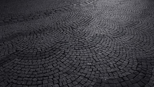 Pebble road cobblestone road cobblestone.