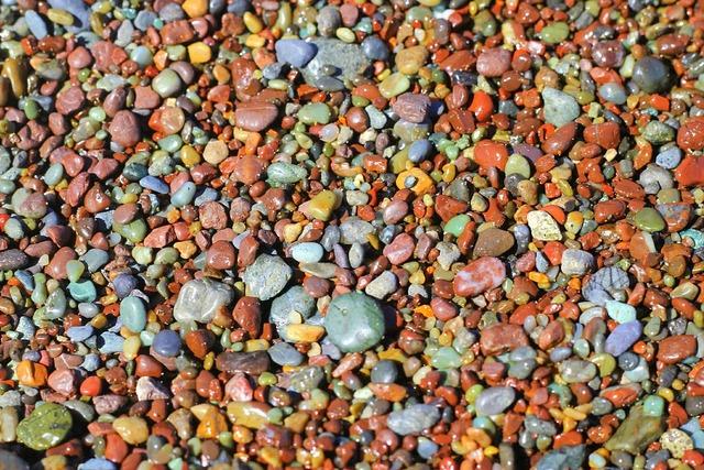 Pebbles beach summer, travel vacation.